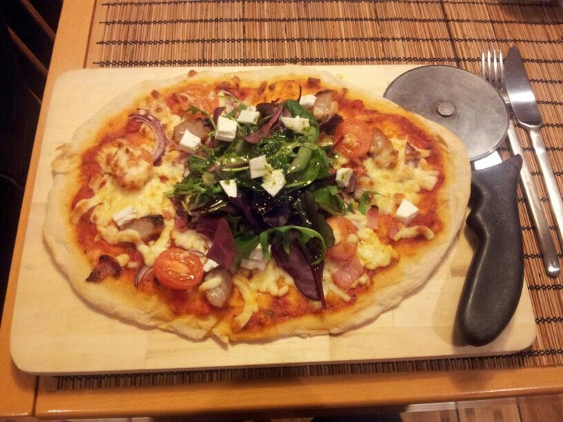 Home Made Pizza with Olvi Oils Pizza Sauce